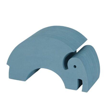 bObles Elefant - Mellem - Marmor - Blå